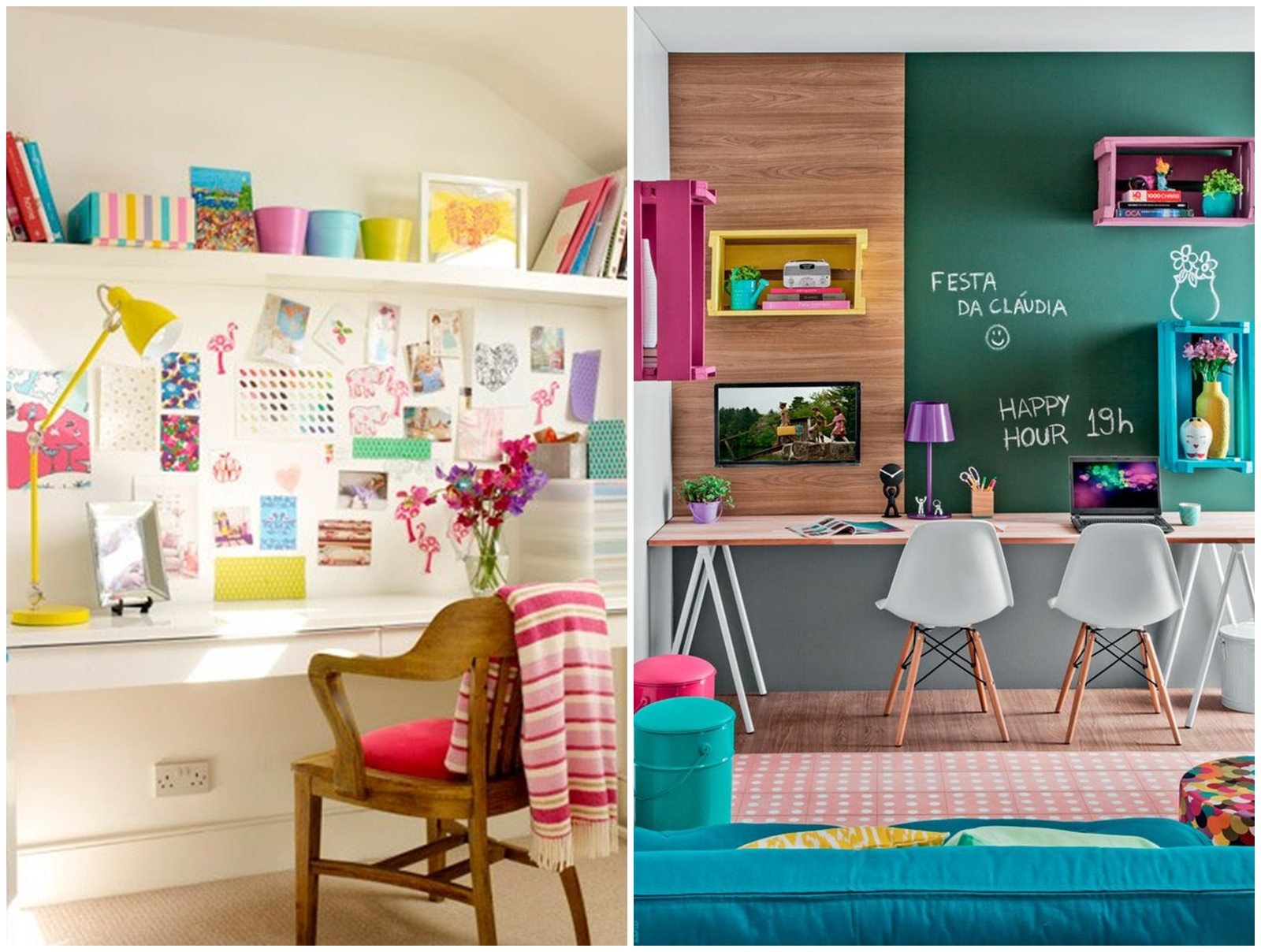 15 Home Office colorido